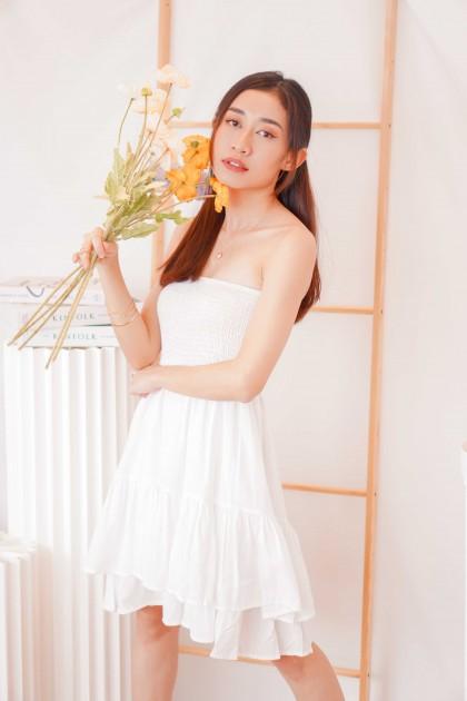 Sunshine Shower Tube Dress in White