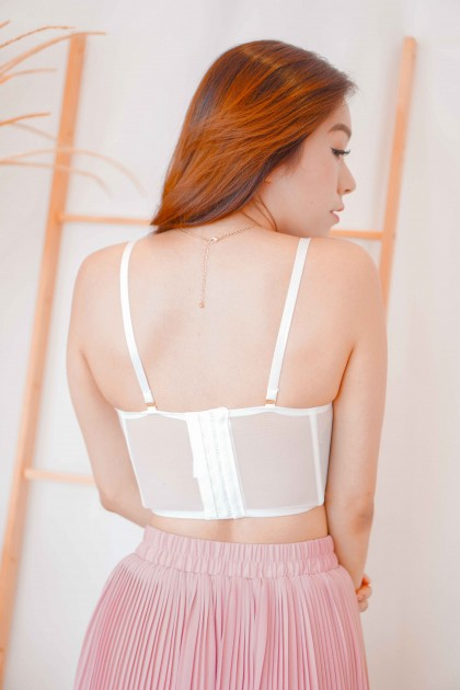 Daisy Fairy Floral Bustier Top in White