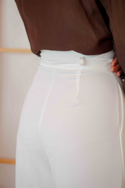 White Muse High Waisted Pants in White