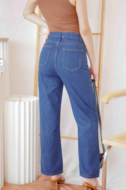 Down Under Wide Legged Jeans in Dark Blue