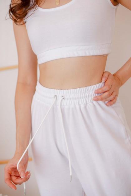 Malibu Sweatpants 2 Piece Set in White