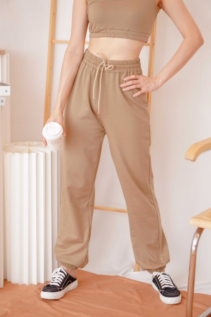 Malibu Sweatpants 2 Piece Set in Khaki