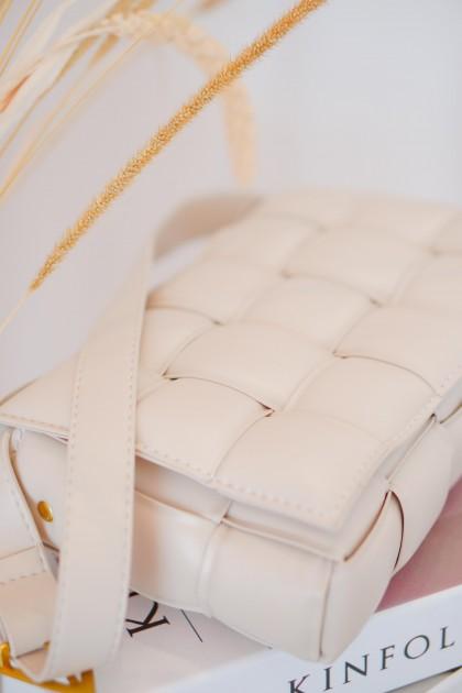 Nicolette Weave Bag in Beige