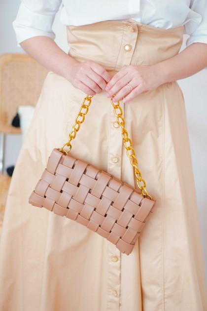 Roma Weave Bag in Khaki