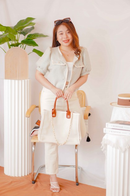 Her World Canvas Tote Bag
