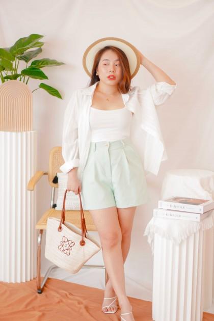 Loosen Mind Shorts in Mint Green