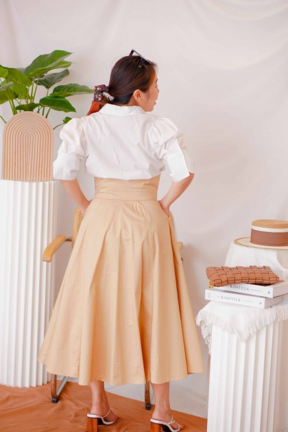 Chief Lady High Waisted Button Skirt