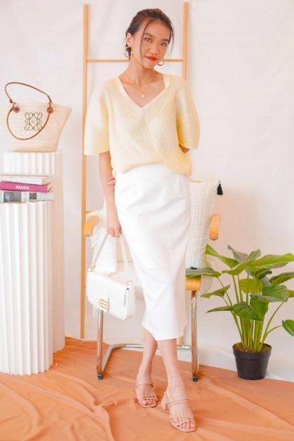 Hamptons Midi Skirt in White