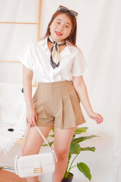 Pure Virtue Button Down Shirt in White