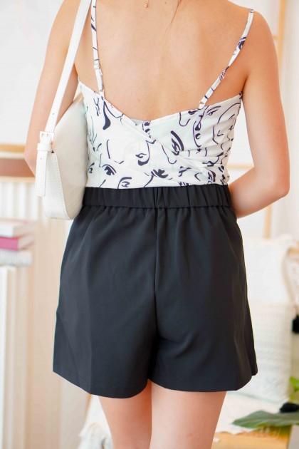 Simple Call Shorts in Black
