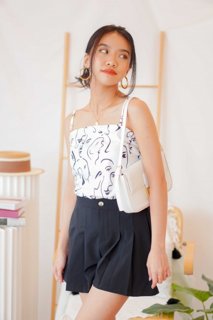Adorn Mode Self Tied Camisole in Face Print