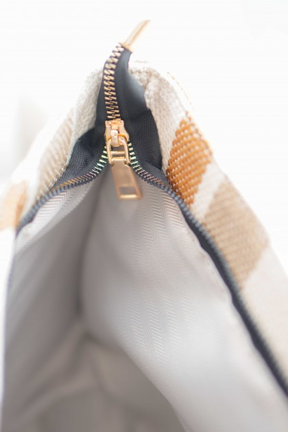 Meredith Big Tote Bag with Stripes