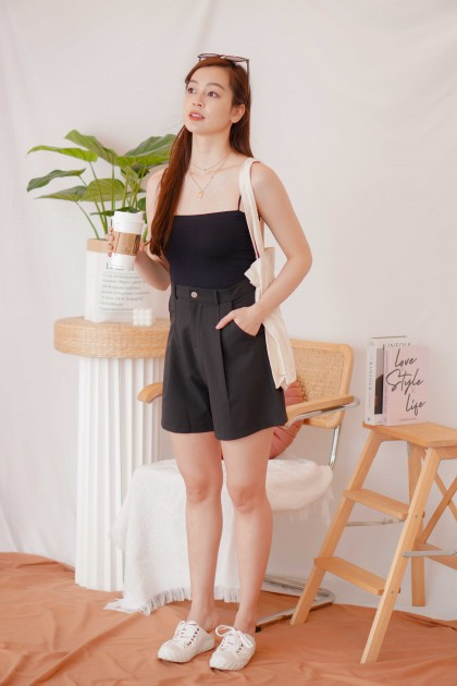 Easy Days Padded Camisole Top in Black