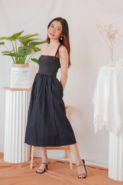 Bonnie Puffy Tube Dress in Black