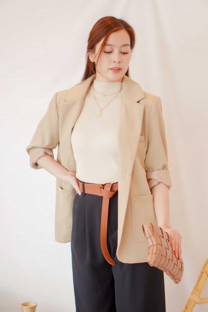 Manhattan Girl Blazer in Brown
