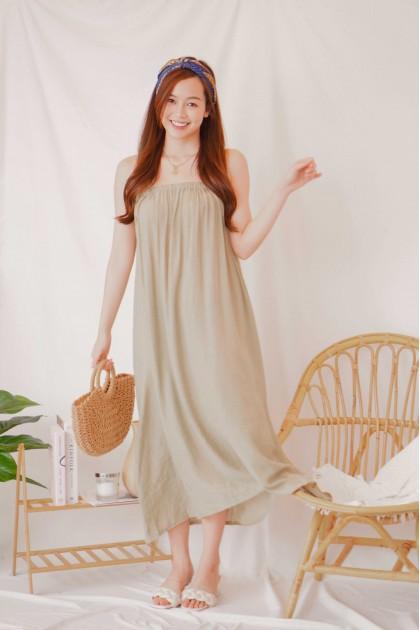 (BACKORDER) Breathe In Flowy Maxi Dress in Sage Green