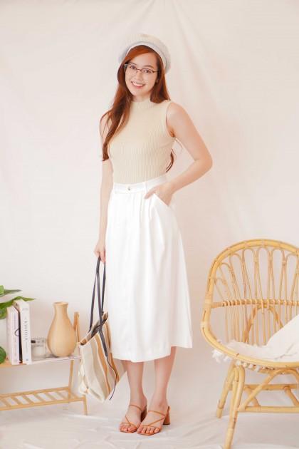 Lost Story Midi Skirt in White