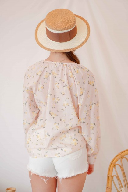 Summer Time Floral Long Sleeve Top
