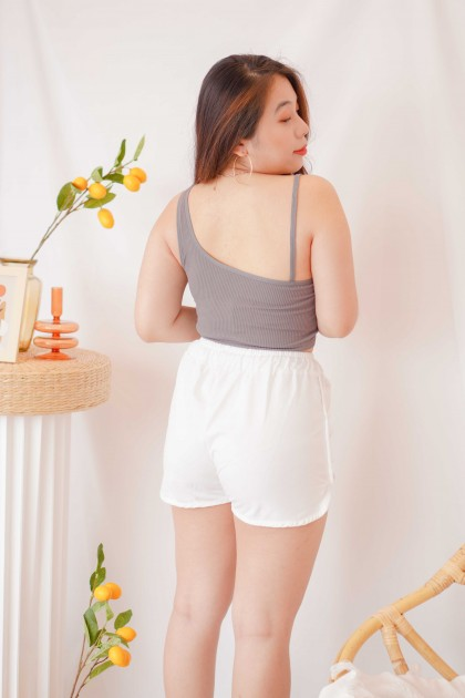Tone Up Toga Padded Crop Top in Grey