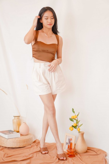 Babycino Sweetheart Padded Top in Brown