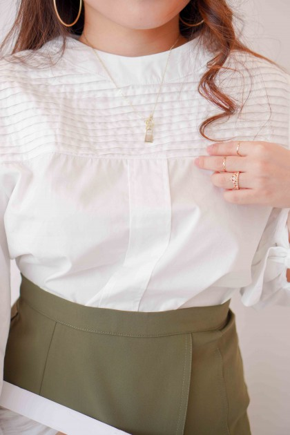 Ever Grace Long Sleeve Top in White