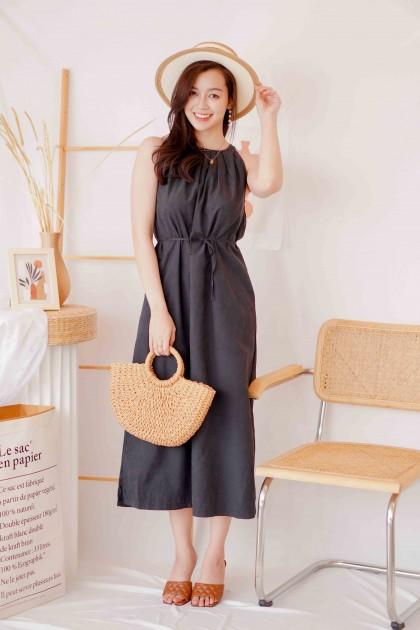 New Flow Halter Maxi Dress in Black