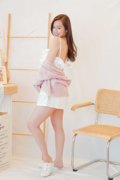 Warm Dusk Knit Cardigan in Pink