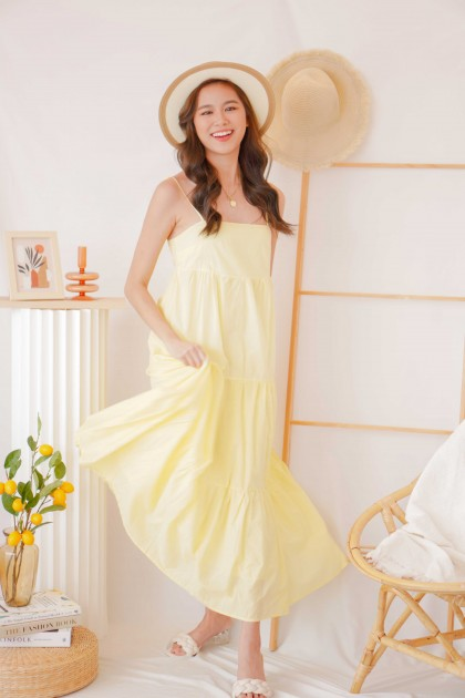 (BACKORDER) Seychelles Island Maxi Dress in Yellow
