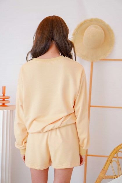 Bring You Flowers Lounge Sweater in Yellow