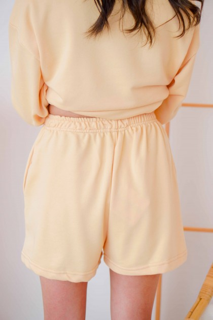 Bring You Flowers Lounge Shorts in Yellow