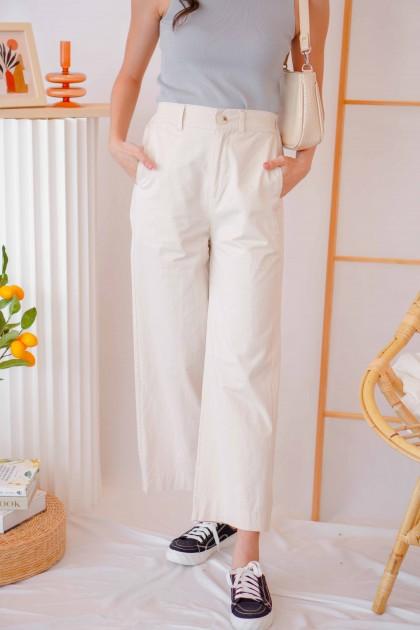 Good Habits Wide Legged Pants in Beige