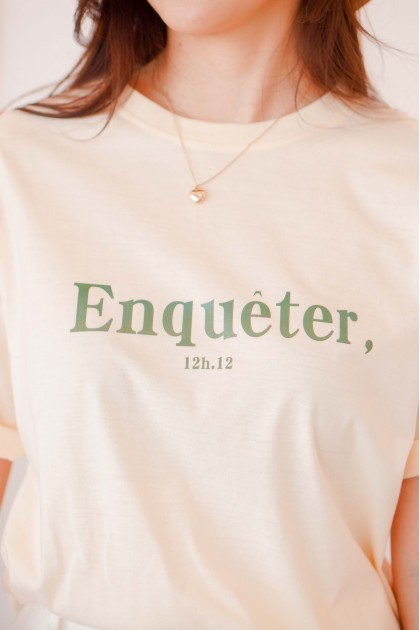(BACKORDER) Enqueter T-Shirt in Yellow
